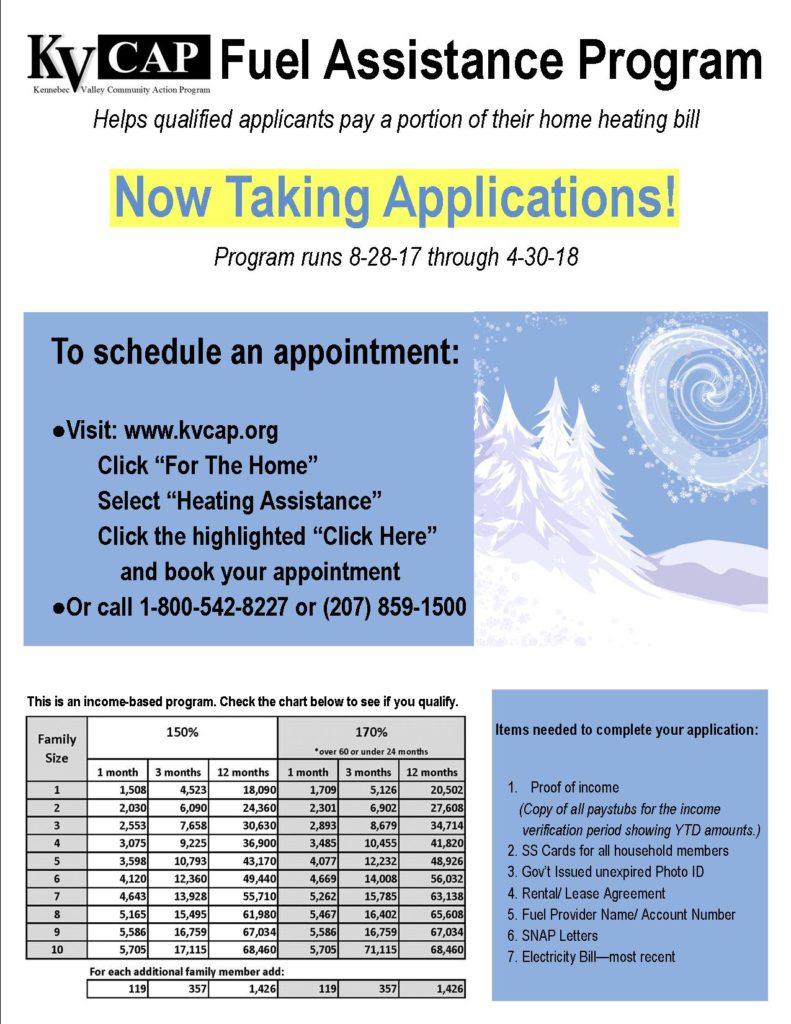 fuel assistance program liheap flyer
