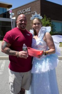 man and tooth fairy at 3rd annual community celebration