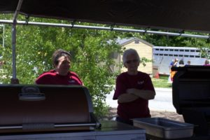 kvcap volunteers in shade at 3rd annual community celebration