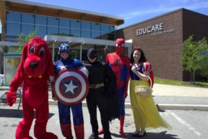 costumed characters at 3rd annual community celebration