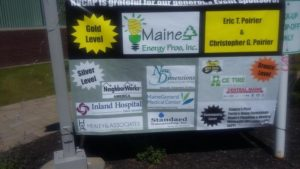 poster of event sponsors of 3rd annual community celebration