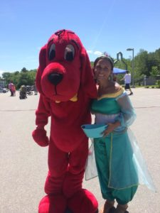 clifford the big red dog and jasmine at 3rd annual community celebration