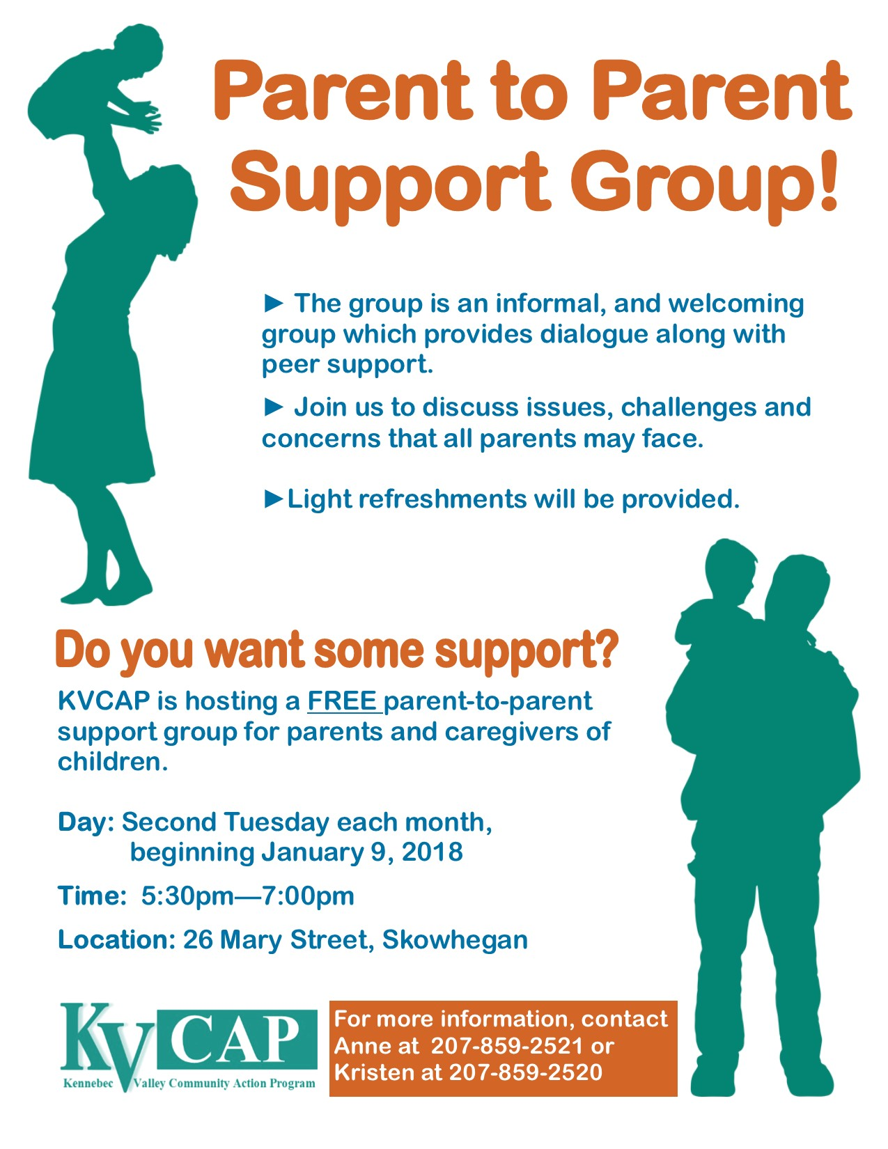 parent to parent support group flyer
