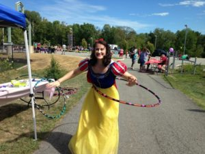 snow white with a hula hoop at 2nd annual community celebration