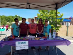 kvcap energy and housing services booth from 3rd annual community celebration