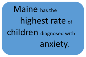 Maine has the highest rate of children diagnosed with anxiety