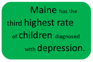 Maine has the third highest rate of children diagnosed with depression